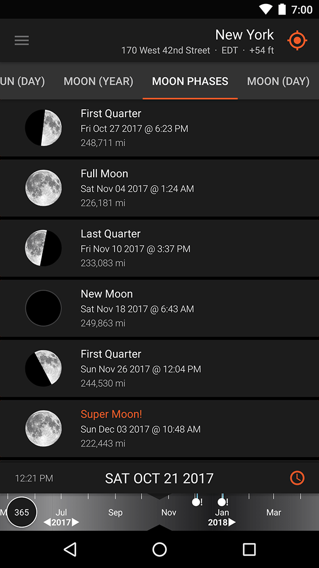 Screenshot - Ephemeris - Moon Phases
