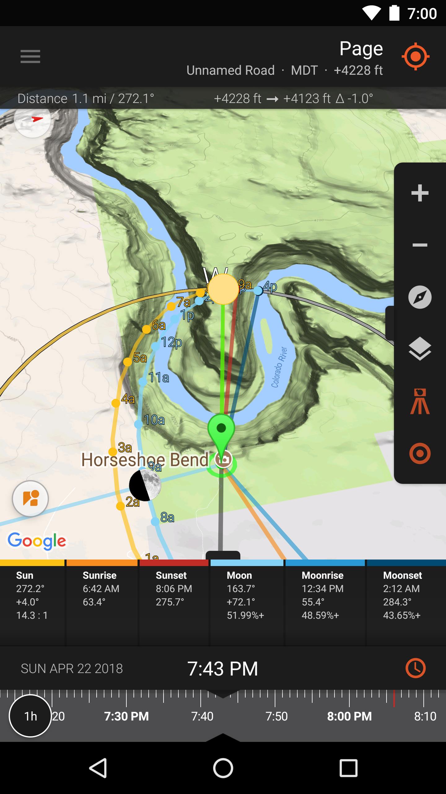 Sun surveyor sun moon position visualization and tracking app screenshot map view terrain gumiabroncs Images